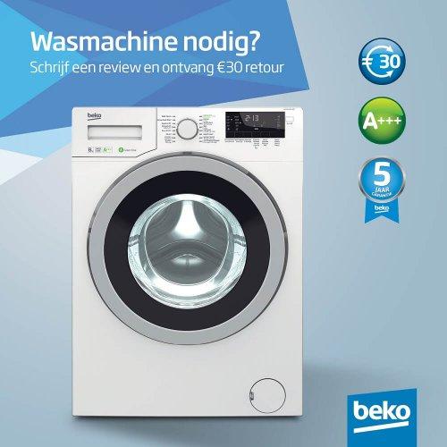 30 euro retour bij aankoop van een Beko WMY81483LMB2