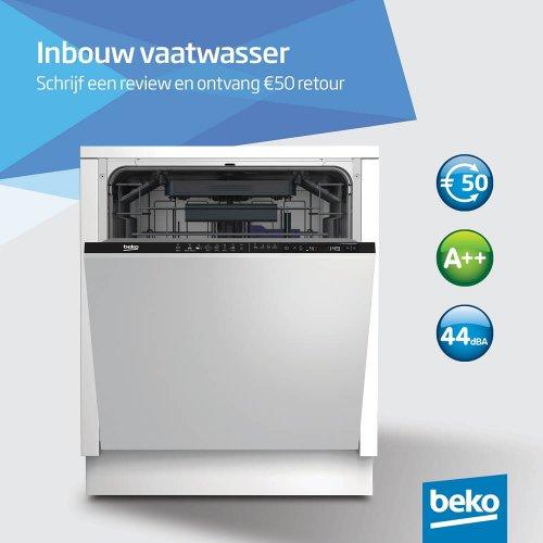 50 euro retour bij aankoop van een Beko DIN28320
