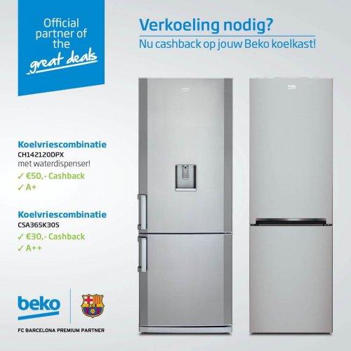 30 of 50 euro retour op een Beko koelkast