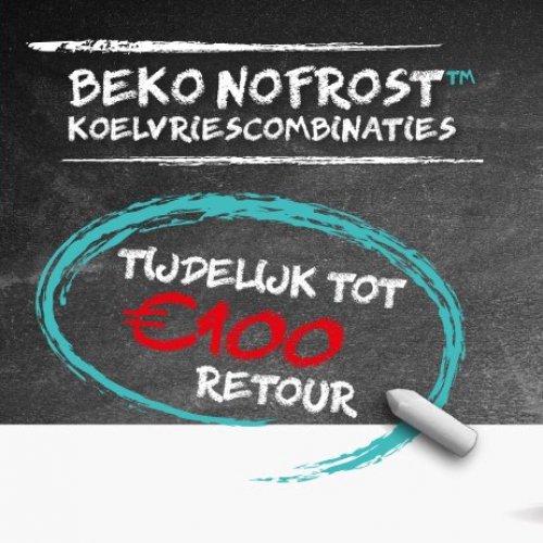 Tot 100 euro cashback op een Beko koel-vriescombinatie