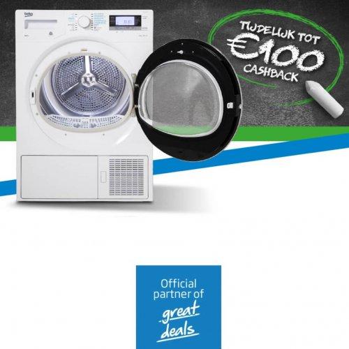 Tot 100 euro retour op een Beko warmtepompdroger