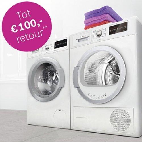 Cashback actie bij aankoop van Bosch wasmachine of droger