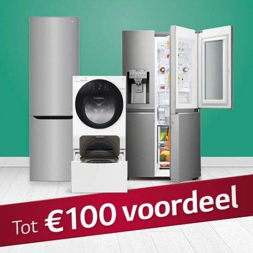 Tot wel € 100,- kassakorting op LG apparatuur