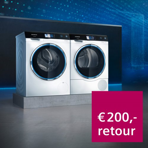 Cashback op Siemens Avantgarde wasmachine of droger