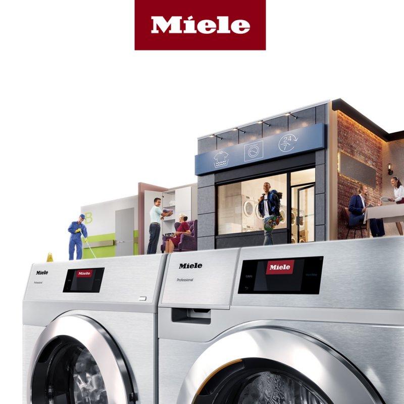Miele lanceert nieuwe zuinige professionele wasmachines