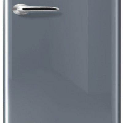 Etna KVV754ZIL Zilveren Retro koelkast