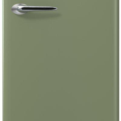Etna KVV754GRO Groene retro koelkast