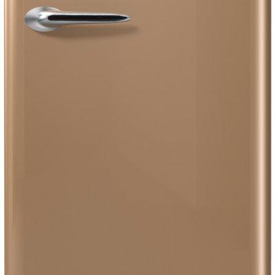 Etna KVV754BRU Bruine retro koelkast