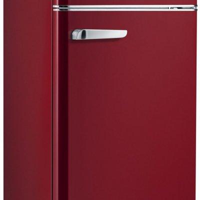 Severin RKG8931 Wijnrood Retro koelkast